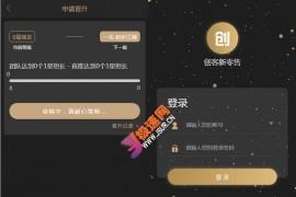 黑色UI新创客13星新零售系统 可封装app